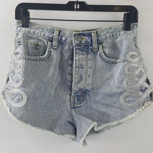 Carmar Los Angeles blue trim cotton jean shorts 28